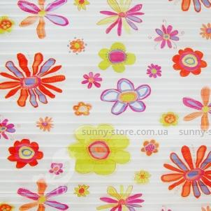 FLOWERS 2611 red - ткань на шторы плиссе Sunny