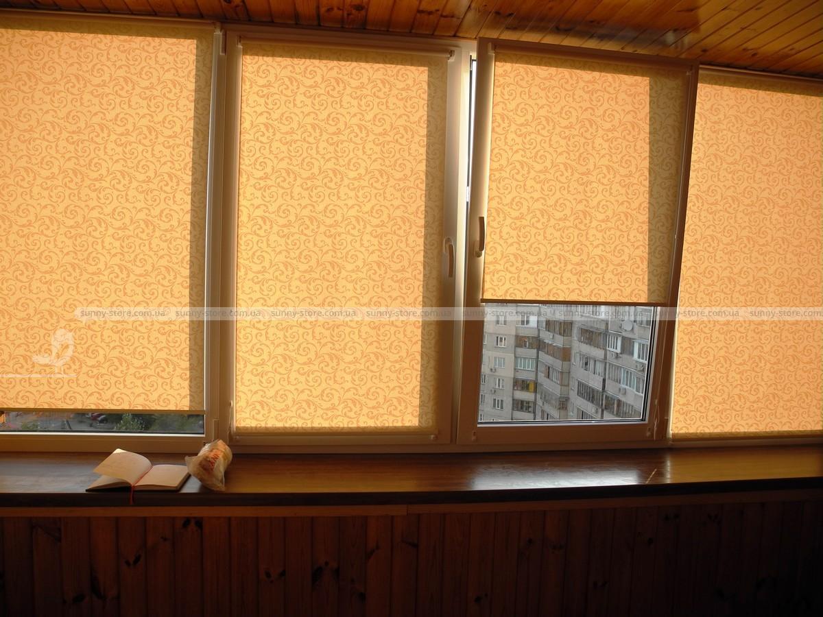 Жалюзи тканевые на пластиковые окна