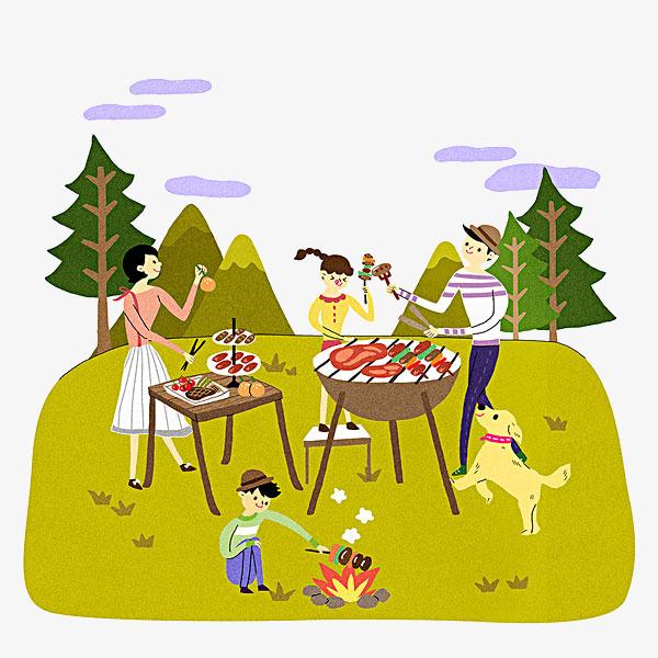пикник рисунки отдых на природе олицетворяет собой ум